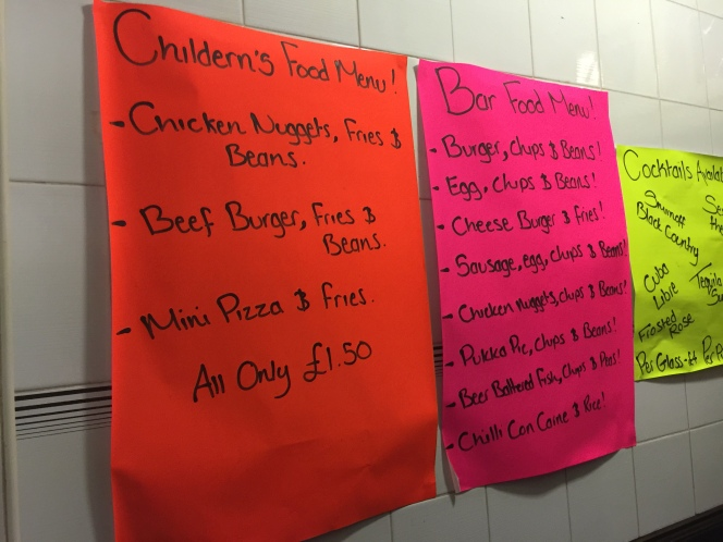 Childerns menu