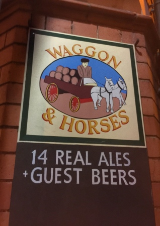 Waggon & Horses sign