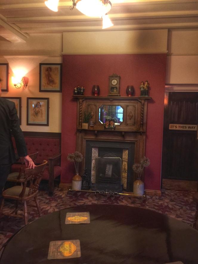The Woodman fireplace