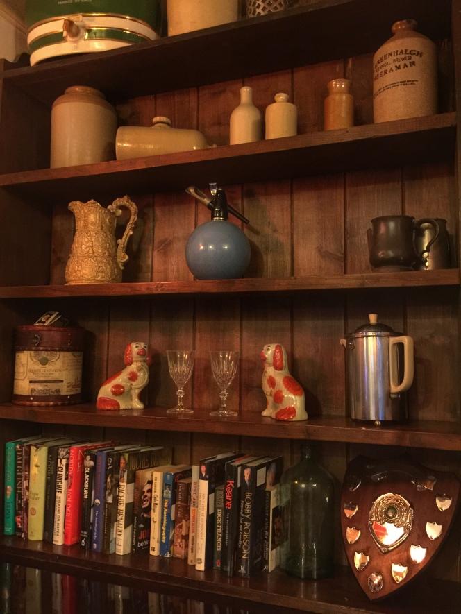 The Woodman shelves