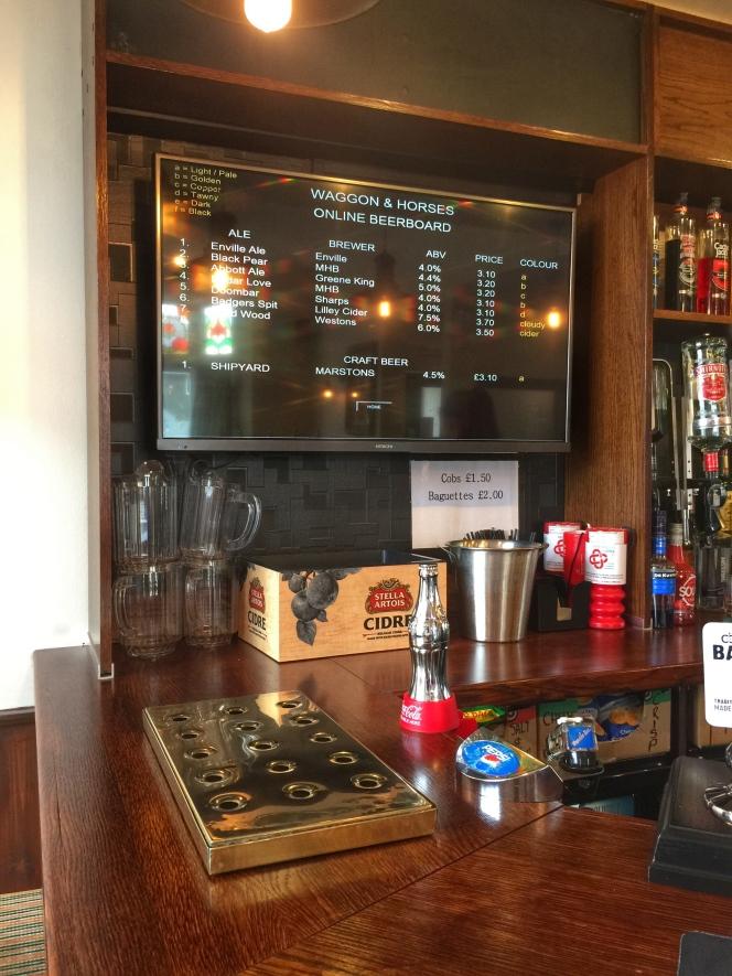 Waggon beer board