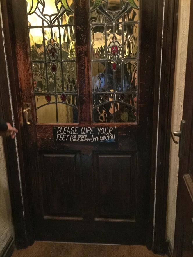 Robin Hood Inn door